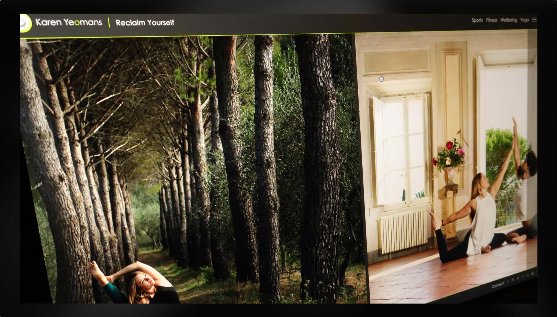 Example of photography displayed on Karen Yeoman's website.