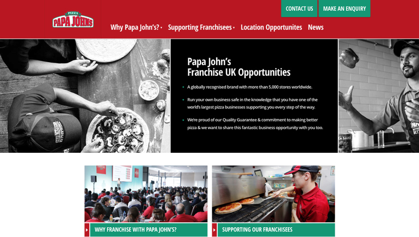 Franchising site homepage