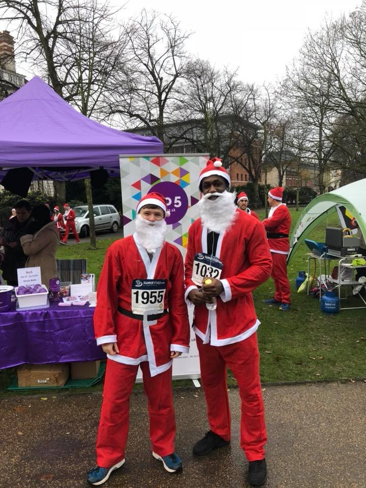 Mark and Dan after finishing the No5 Santa run 21
