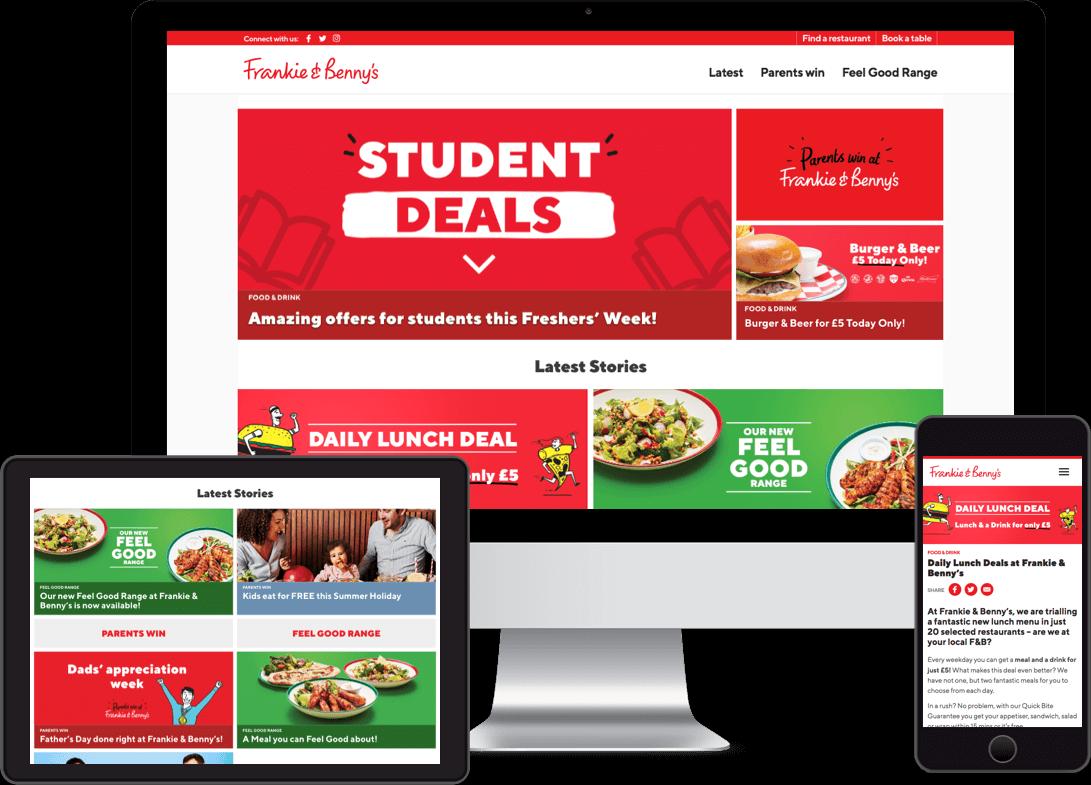 Restaurant Blog website by Red Balloon Design