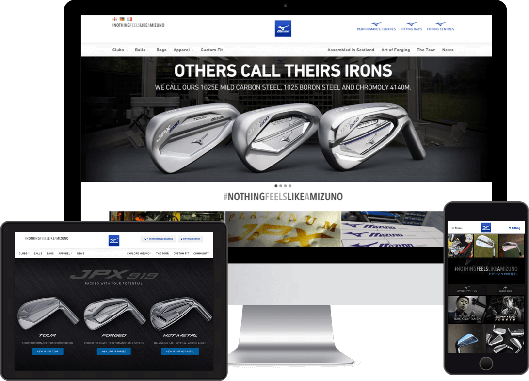 Golf website by Red Balloon Design