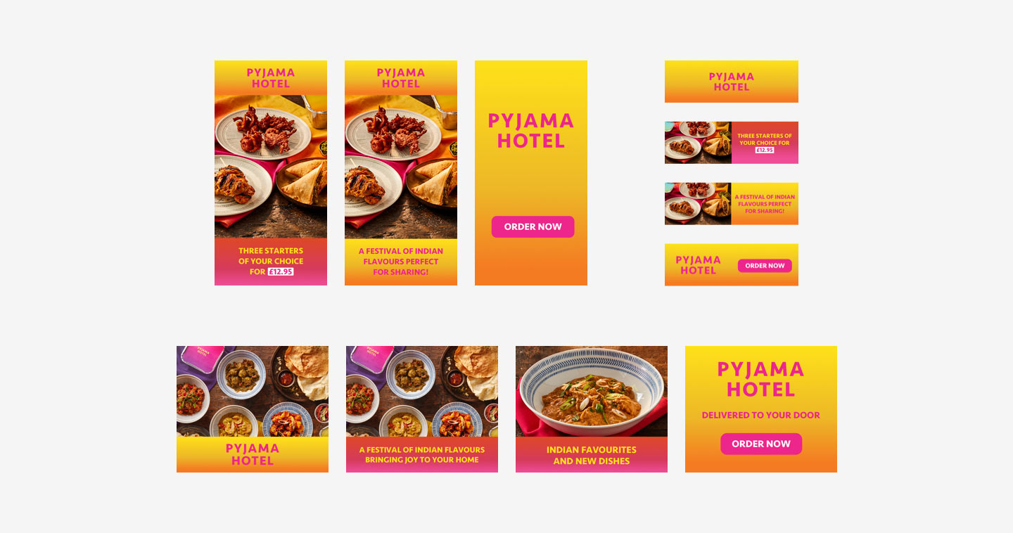 Banner ad designs for Pyjama Hotel